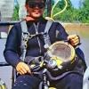 Steve James hard hat diver