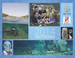 The cover of the 2014 ACUA Archaeology Photo Contest Calendar.