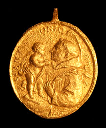 St Anthony Medallion. Photo courtesy Andy Hall, PAST Foundation