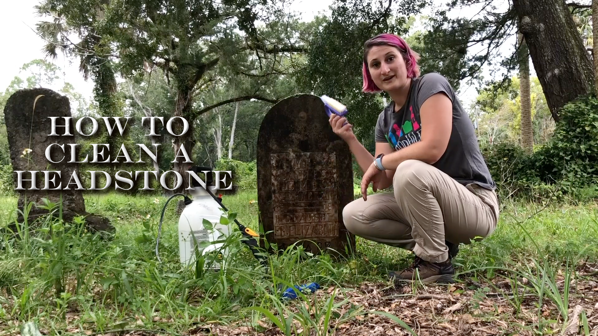 how to clean a headstone